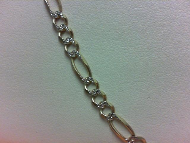 """20"""" Gold Figaro Chain 14K Yellow Gold 11.4g"""