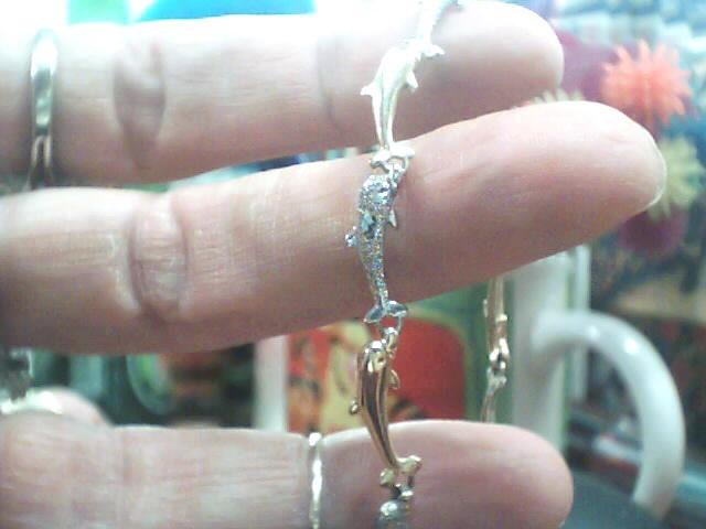 Gold Fashion Bracelet 10K 2 Tone Gold 3.5dwt