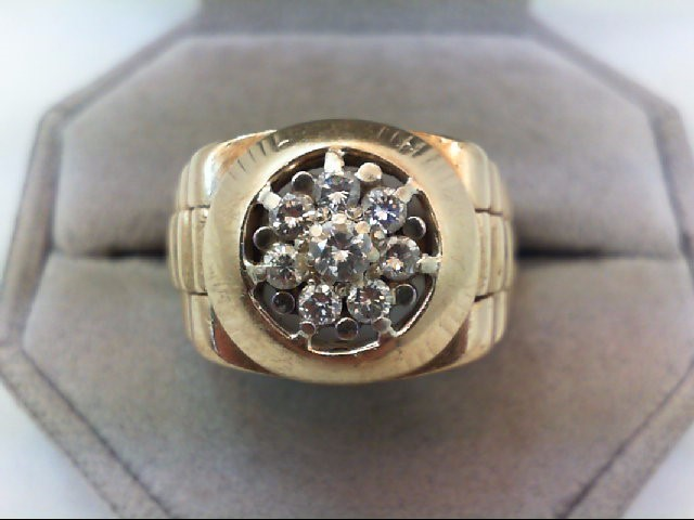 Lady's Diamond Cluster Ring 8 Diamonds .82 Carat T.W. 14K Yellow Gold 12.4g