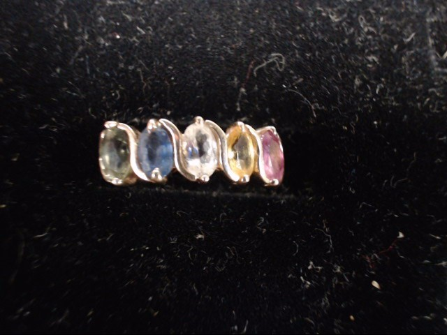 Pink Stone Lady's Stone Ring 14K Yellow Gold 2.5g Size:7