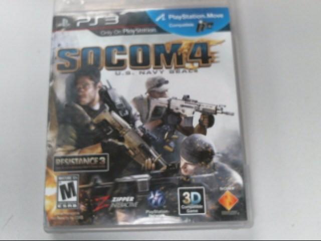 SONY Sony PlayStation 3 Game PS3 SOCOM 4 US NAVY SEALS