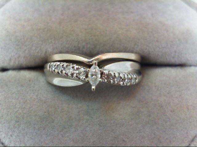 Lady's Diamond Wedding Set 9 Diamonds .16 Carat T.W. 14K White Gold 4.5g
