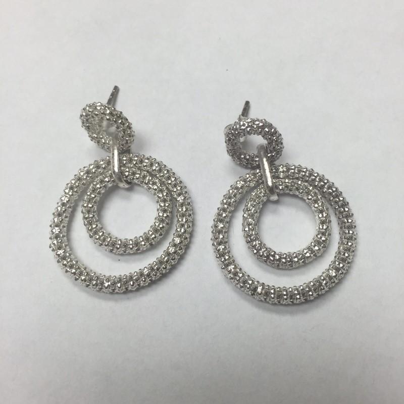 Sterling Silver Hoop Earrings 925 5.5dwt