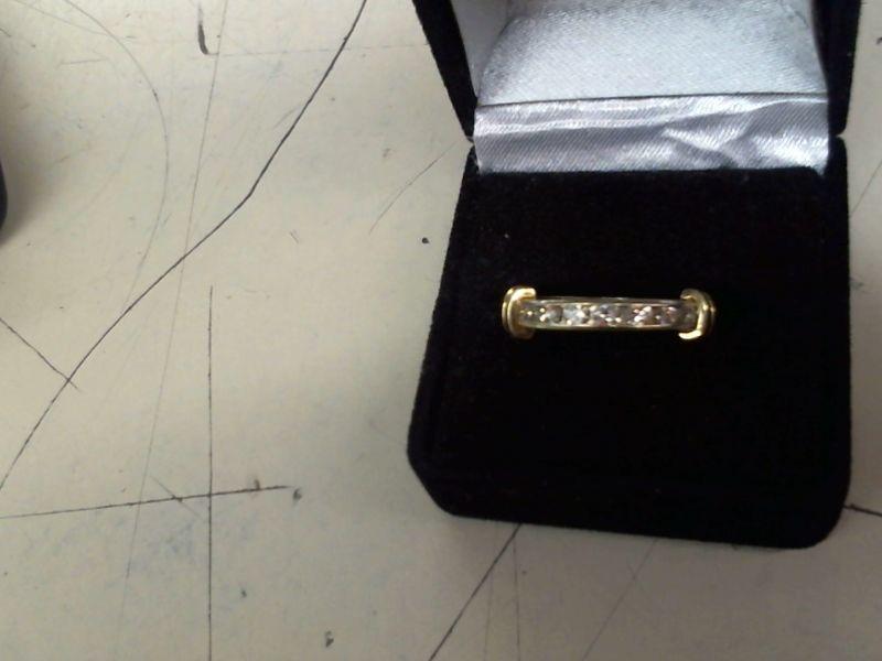 Lady's Diamond Wedding Band 11 Diamonds .33 Carat T.W. 14K Yellow Gold 3.7g