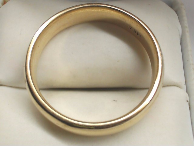 Gent's Gold Wedding Band 14K Yellow Gold 11.4g Size:14.5