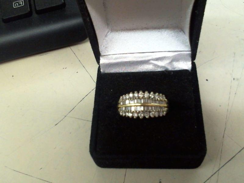 Lady's Diamond Fashion Ring 58 Diamonds 1.38 Carat T.W. 14K Yellow Gold 7.3g