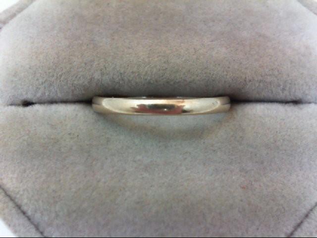 Lady's Gold Wedding Band 14K White Gold 1.4g Size:8