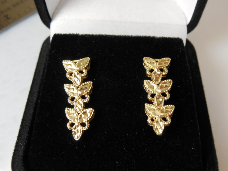 Gold Earrings 14K Yellow Gold 3.4g