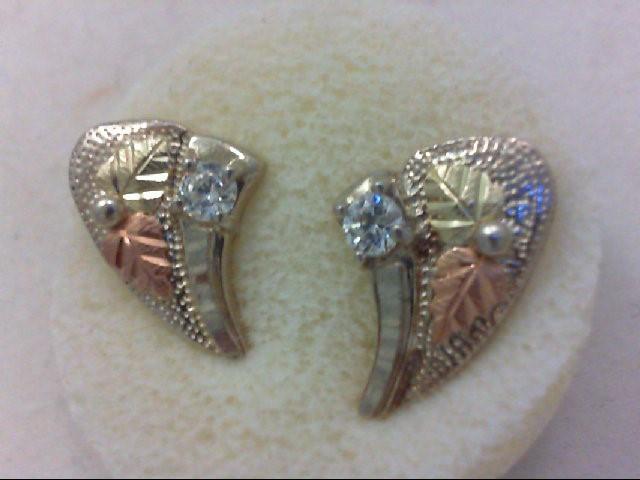 White Stone Silver-Stone Earrings 925 Silver 3.7g