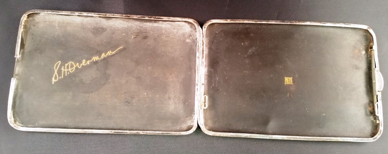 SILVER & GOLD PLATE CIGARETTE HOLDER