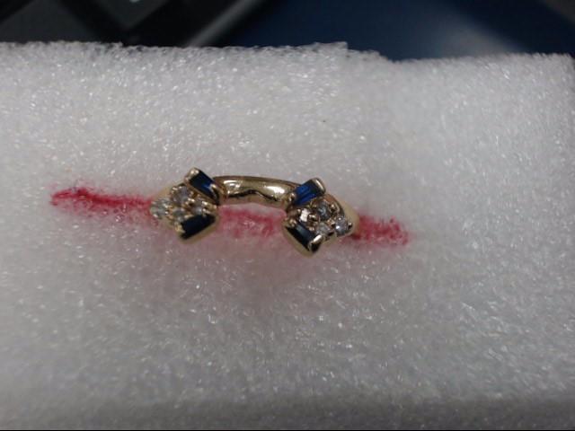 Lady's Gold-Diamond Ring Guard 8 Diamonds .08 Carat T.W. 14K Yellow Gold