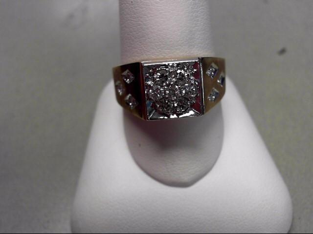 Gent's Diamond Fashion Ring 10 Diamonds .31 Carat T.W. 14K Yellow Gold 6.3g