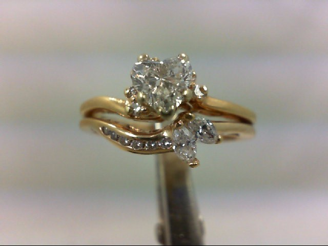 Lady's Diamond Wedding Set 16 Diamonds .80 Carat T.W. 14K Yellow Gold 5.21g