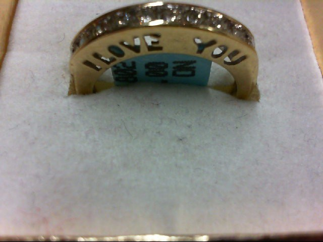 Lady's Diamond Wedding Band 10 Diamonds 0.4 Carat T.W. 10K Yellow Gold 2.8g