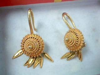 Gold Earrings 22K Yellow Gold 6g