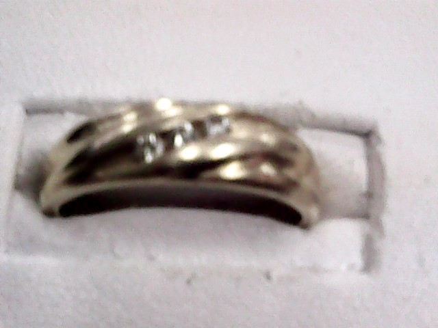 Gent's Gold-Diamond Wedding Band 3 Diamonds .09 Carat T.W. 14K Yellow Gold