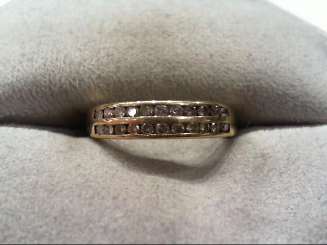 Lady's Diamond Wedding Band 22 Diamonds .22 Carat T.W. 10K Yellow Gold 1.6g