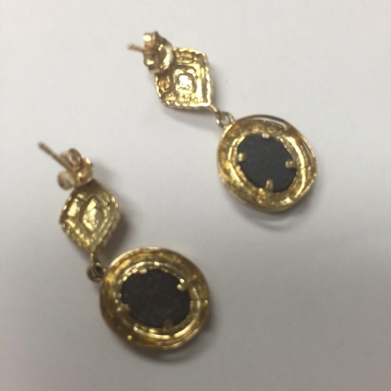 Gold Earrings 10K Yellow Gold 3.4dwt