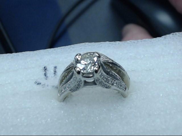 Lady's Diamond Wedding Set 1.00 CT. 18K White Gold 5.89dwt