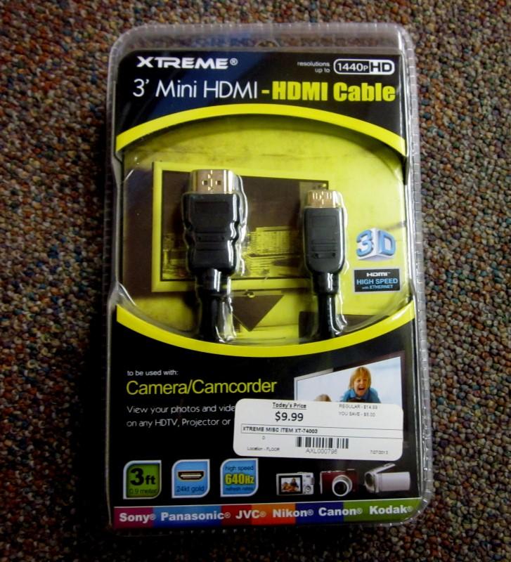 "XTREME HDMI 3"" CABLE XT-74003"