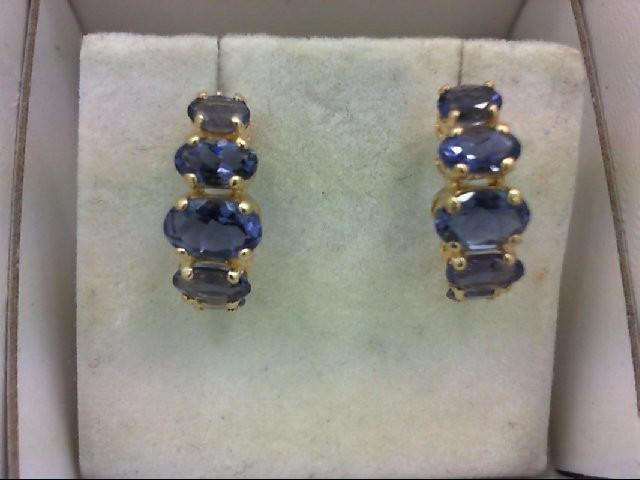 Tanzanite Gold-Stone Earrings 14K Yellow Gold 1.6g