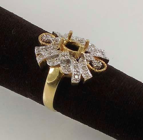 Lady's Diamond Fashion Ring 34 Diamonds 0.34 Carat T.W. 14K Yellow Gold 5.7g Siz