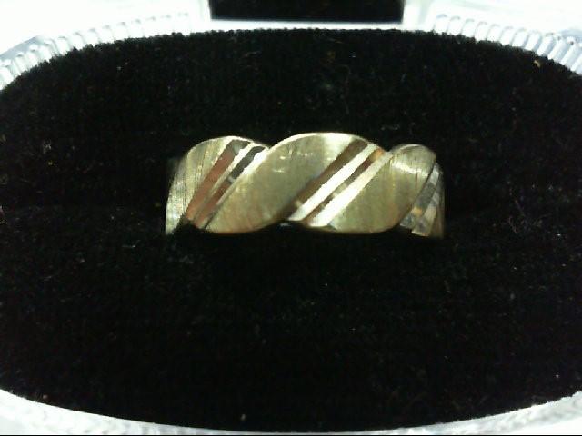Lady's Gold Wedding Band 14K White Gold 4g Size:6.5