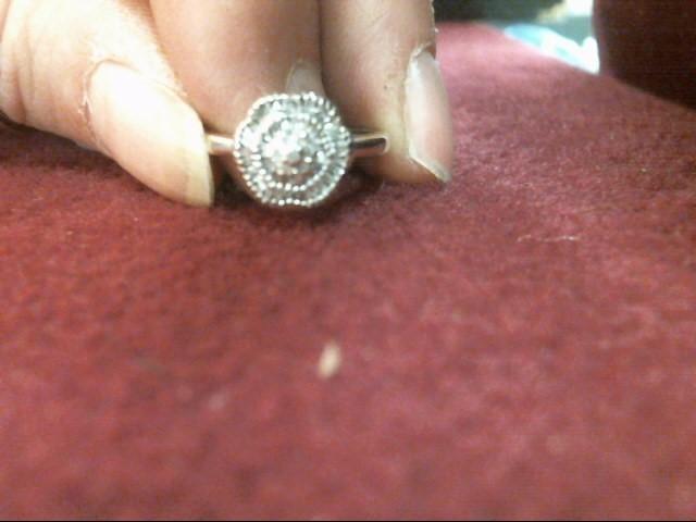 Lady's Diamond Cluster Ring 85 Diamonds .85 Carat T.W. 10K White Gold 1.7dwt