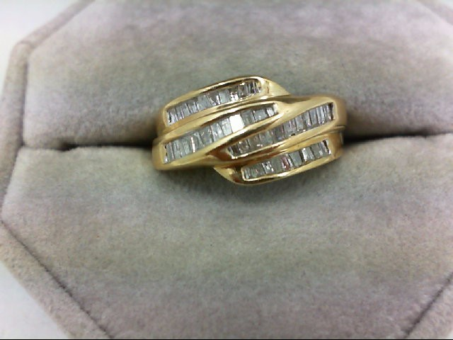 Lady's Diamond Wedding Band 42 Diamonds 0.84 Carat T.W. 14K Yellow Gold 4.3g Siz