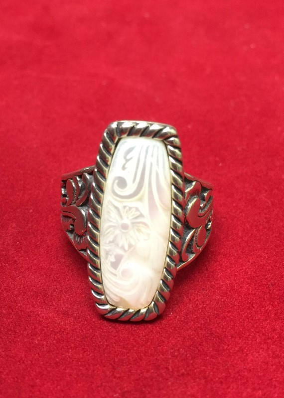 Lady's Silver Ring 925 Silver 8dwt Size:10.5