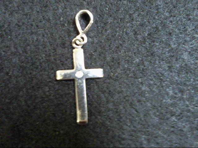 Gold Charm 14K White Gold 1g Cross
