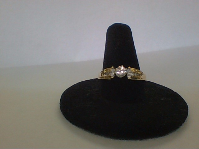 Lady's Gold-Diamond Anniversary Ring 15 Diamonds .81 Carat T.W. 14K Yellow Gold