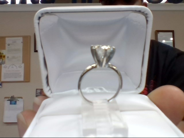 Lady's Diamond Solitaire Ring 2.00 CT. 14K White Gold 3g Size:6