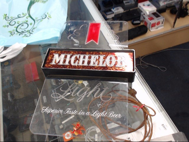 """MICHELOB """"One of a kind"""" GOLF BEER SIGN"""