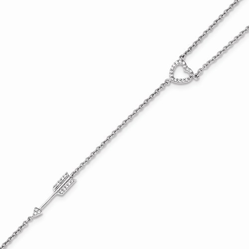 Synthetic Cubic Zirconia Silver-Stone Bracelet 925 Silver 2.5g