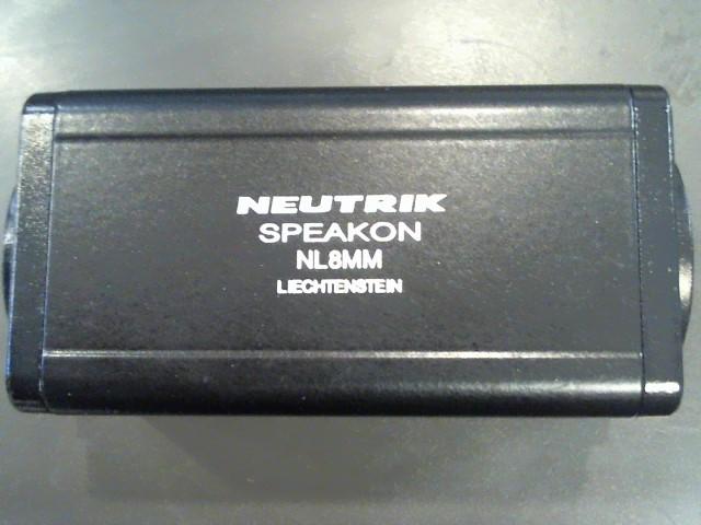 NEUTRIK 8-PIN MALE/MALE SPEAKON ADAPTER M\NL8MM