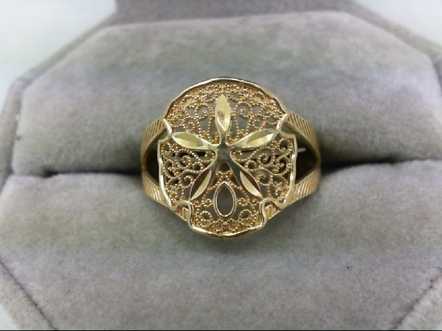 Lady's Gold Ring 10K Yellow Gold 2g Size:8.5