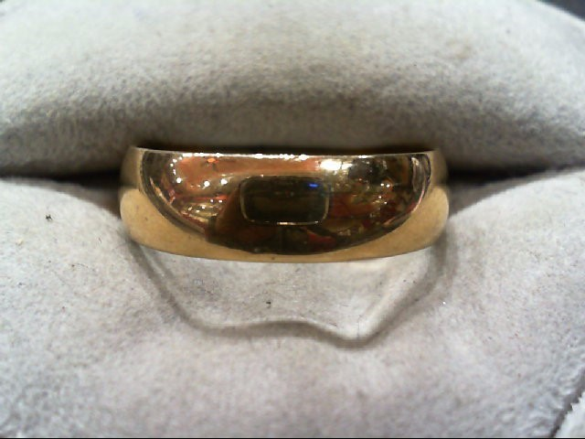 Gent's Gold Wedding Band 14K Yellow Gold 5.1g Size:10