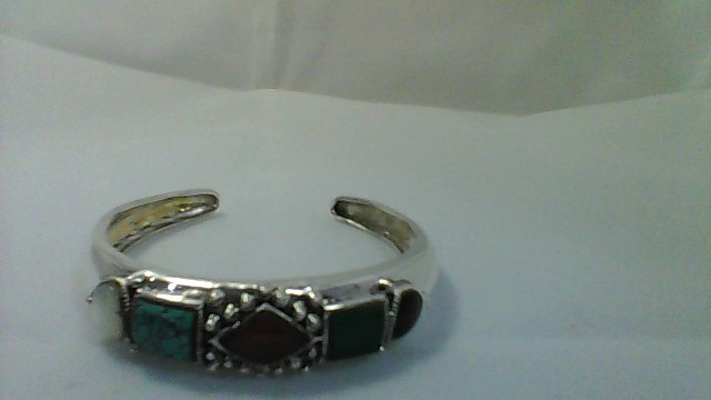 Synthetic Turquoise Silver-Stone Bracelet 925 Silver 27.95g