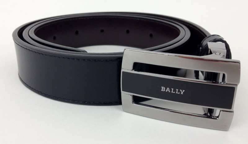 BALLY WIDE BROWN LEATHER BELT SIZE 34 85