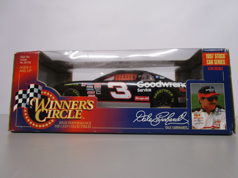 WINNER'S CIRCLE DALE EARNHARDT #3 1997 STOCK CAR SERIES, 1:24 SCALE, DIE CAST