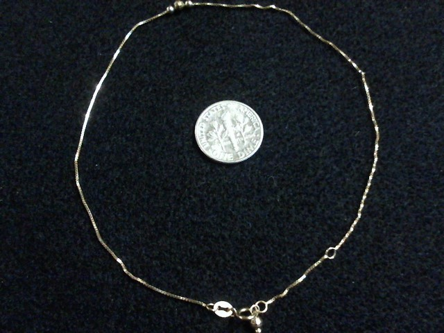 "10"" Gold Bracelet 14K Yellow Gold 0.6dwt"