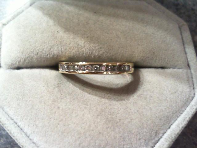 Lady's Diamond Wedding Band 12 Diamonds .24 Carat T.W. 14K Yellow Gold 2.9g