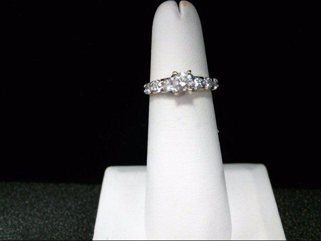 Lady's Diamond Fashion Ring 7 Diamonds 1.17 Carat T.W. 18K White Gold 4.2g