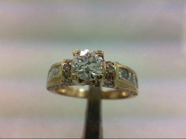 Lady's Diamond Engagement Ring 49 Diamonds 1.95 Carat T.W. 14K Yellow Gold