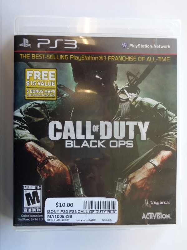 SONY Sony PlayStation 3 PS3 CALL OF DUTY BLACK OPS