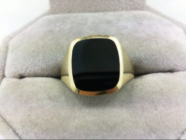 Gent's Gold Ring 14K Yellow Gold 4.5g Size:6.5