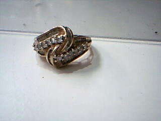 Lady's Diamond Cluster Ring 24 Diamonds .60 Carat T.W. 10K Yellow Gold 4.7g