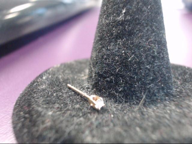 Gold-Diamond Earrings .02 CT. 14K Yellow Gold 0.01g