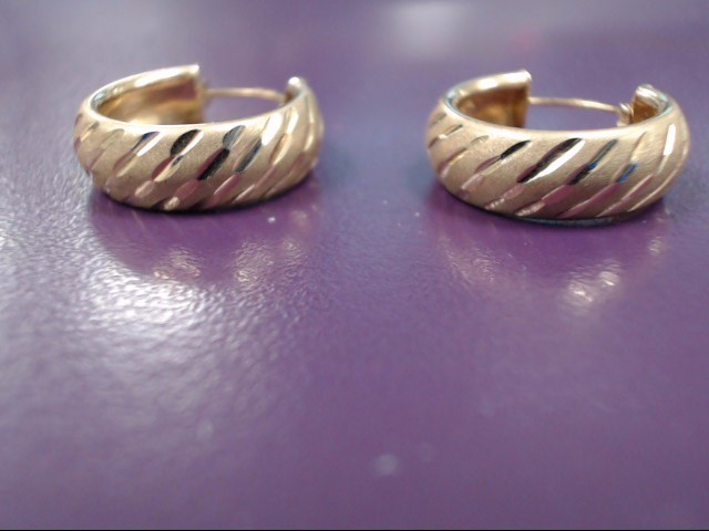 Gold Earrings 18K Yellow Gold 3g
